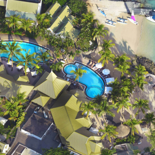 veranda grand baie aerial view